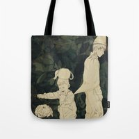 over the garden wall Tote Bags featuring Over the Garden Wall by Ischelle Martin