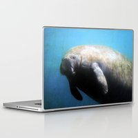 manatee Laptop & iPad Skins featuring Manatee by ZenzPhotography