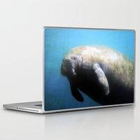 manatee Laptop & iPad Skins featuring Manatee by BlueMoonArt