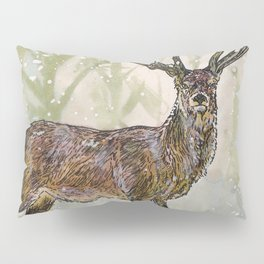 Winter Stag Pillow Sham