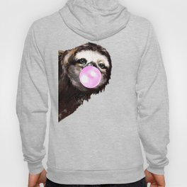 Bubble Gum Sneaky Sloth in Green Hoody