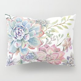 succulent watercolor 6 Pillow Sham