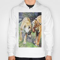 tigers Hoodies featuring Tigers by Irene Jaramillo