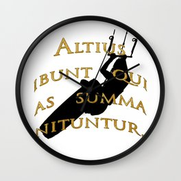 KiteSurf Freestyle They Will Rise Highest Who Strive High Wall Clock