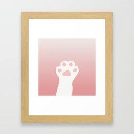 Kitty Cat Paw Framed Art Print