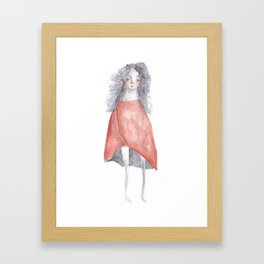 The lady in red Framed Art Print