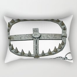 Trap Bear Ready Foothold Poachers 1600s Blacksmiths Trappers Rectangular Pillow