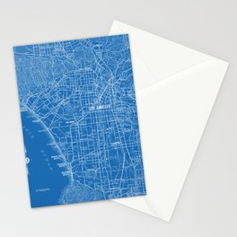 Los Angeles Street Map Stationery Cards