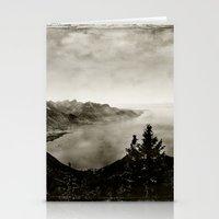 switzerland Stationery Cards featuring Vintage Switzerland by breezy baldwin