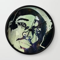 biggie smalls Wall Clocks featuring Biggie Smalls by Taylor Burleson