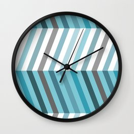 arctic stepped chevron Wall Clock