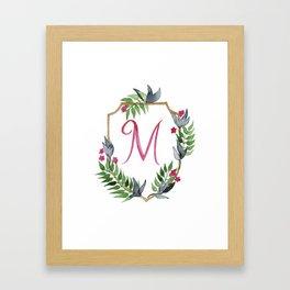 Jungle Gold Monogram Crest M Framed Art Print