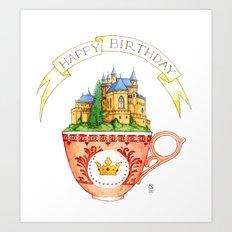 Birthday Cup Art Print