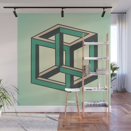 Impossible Cube Wall Mural