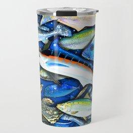 DEEP SALTWATER FISHING COLLAGE Travel Mug