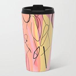 We Become One: Abstract Love Travel Mug