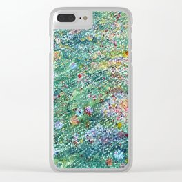 colorful flower filed Clear iPhone Case