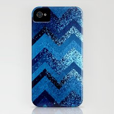 sparkly and dark blue adventure iPhone (4, 4s) Slim Case