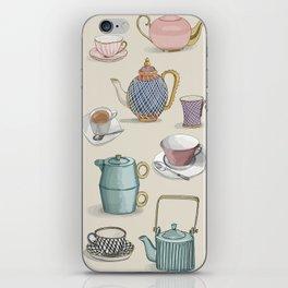 Vintage Teacups and Teapots iPhone Skin