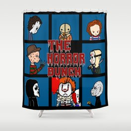 The Horror Bunch: Slashers Unite Shower Curtain