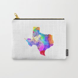 Texas Watercolor Carry-All Pouch