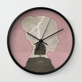 Charlotte Brontë Jane Eyre - Minimalist literary design Wall Clock