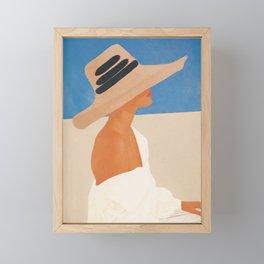 Summer Hat Framed Mini Art Print