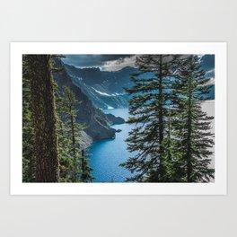 Blue Crater Lake Oregon in Summer Art Print