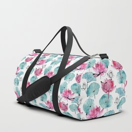 Waterlily buds Duffle Bag