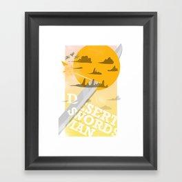 Desert Swordsman Framed Art Print