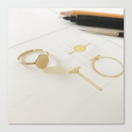 Signet Ring Sketch Canvas Print