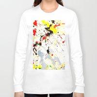 splatter Long Sleeve T-shirts featuring Paint Splatter  by Gravityx9