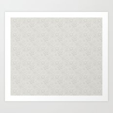 Dancing Snowflakes Pattern Art Print