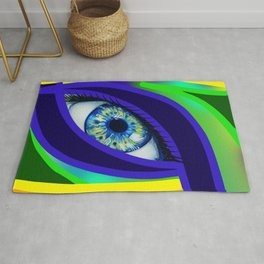 Colorful Eye Rug