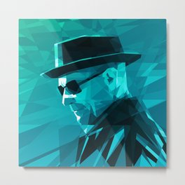 Heisenberg Who Knock Stained Glass Metal Print