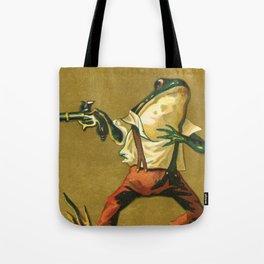 Wild West Pistol Frog Tote Bag