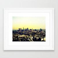 los angeles Framed Art Prints featuring Los Angeles by Travis Davis