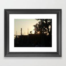 Construction India Framed Art Print