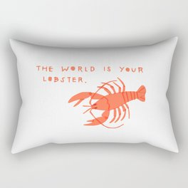 The World is Your Lobster Rectangular Pillow