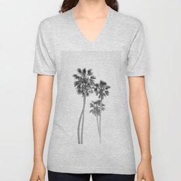 Monochrome California Palms Unisex V-Neck