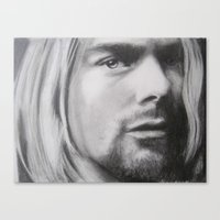 kurt cobain Canvas Prints featuring Kurt Cobain by Robyn Warren