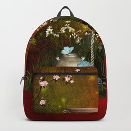 Easter eggs with butterflies Backpack