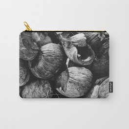 Coconut Shell Black and White Carry-All Pouch
