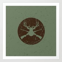 Caught in the crossfire Art Print