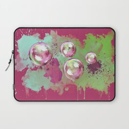 Soap bubbles in the sky watercolor painting Laptop Sleeve