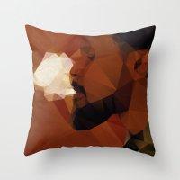django Throw Pillows featuring Django by David
