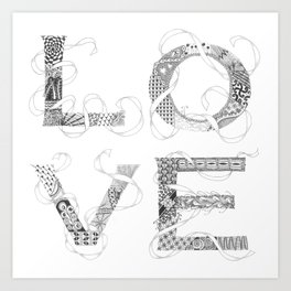 Tangled Love Art Print