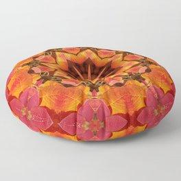 Serviceberry mandala tapestry II Floor Pillow