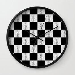 Checkerboard Pussy Wall Clock