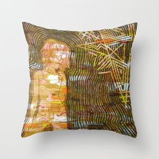 Dissonant Daphne and the Anechoic Star Throw Pillow